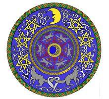 Wolf Star Mandala by ingridthecrafty