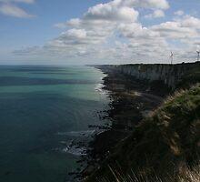 The Atlantic Coastline above Fécamp - Normandy, France by James Walker