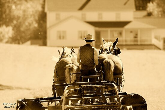 """ Moving to Home "" sepia # 2 by canonman99"