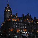 The Balmoral at night by Tom Gomez