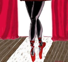 Ballerina in red by kreativekate