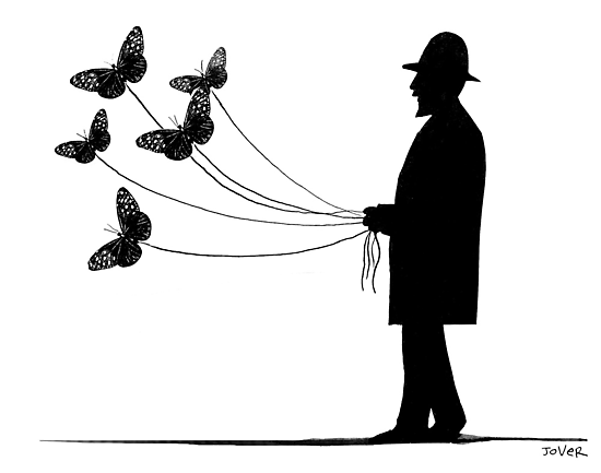 walking butterflies by Loui  Jover