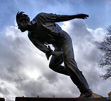 Statue Of Sir Freddie Trueman by Sandra Cockayne