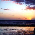 Father and Son at Sunset by Josh Kennedy