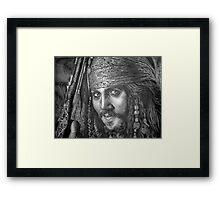 """Johnny Depp-Pirates of the Carribean"" Framed Print"