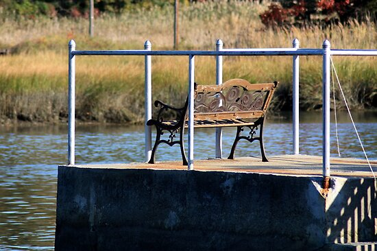 Sitting by the dock of the bay, Farm River by kremphoto