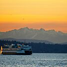 Sunset over Olympic Mountains by Dan Mihai