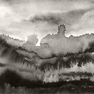 Abstract Landscape (Mono) by Les Sharpe