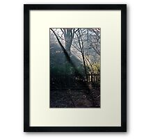 Morning at the Station take two Framed Print