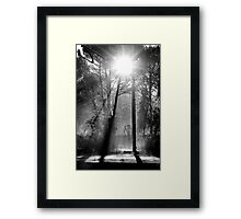 Morning at the Station take three Framed Print