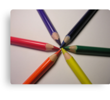 crayon colour wheel Canvas Print