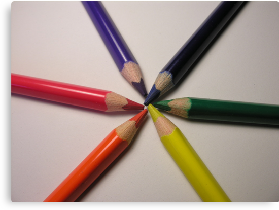 crayon colour wheel by Jodie  Davison