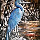 Blue Heron by Pamela Plante