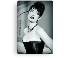 Lips.Skin. Eyes. Hair. Necklace. Corset.  Canvas Print
