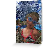 Batik Ocean Pose Midwest Greeting Card