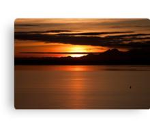 Sunset on Puget Sound Canvas Print