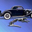 1936 Lincoln Model K Lebaron Coupe by Steven  Agius