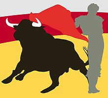 Bull and bullfighter. Corrida. by alvaroc