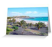 Playa de las chucharas Greeting Card