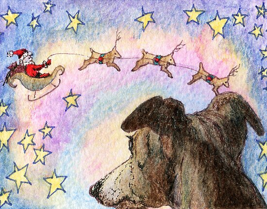 Sleigh flight by SusanAlisonArt