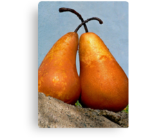 Pear Amour Canvas Print