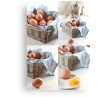 Variations on eggs Canvas Print