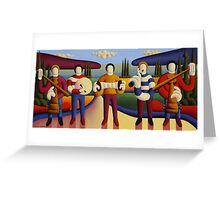 Five soft musicians Greeting Card