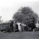 Grandfather's steam engine and threshing machine by Samohsong