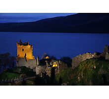 Dusk at Urquhart Castle Photographic Print