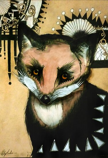 Sad old Fox eyes., by RubyandWolf
