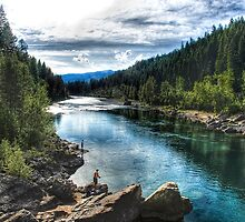 """Fishing the """"North Fork""""  by raberry"""