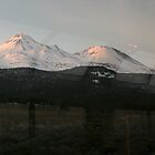 Mt. Shasta from the train by Lorrie Davis