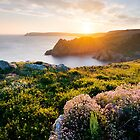 Salcombe sunset, from Prawle Point, Devon. by Justin Foulkes
