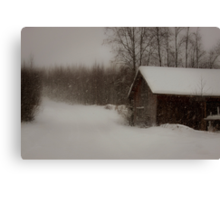 Building for a white Christmas Canvas Print