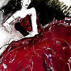 Red Silk Dress by RosWebb