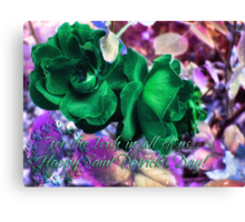 Saint Paddy's Day Card Canvas Print