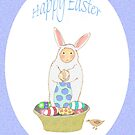 Easter Bunny with easter eggs by Mary Taylor