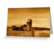 """"""" Pole Position """" sepia # 5 Greeting Card"""