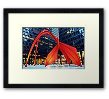 Calder's Flamingo Framed Print