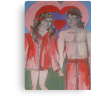 Valentines Sweethearts Canvas Print