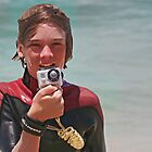 Junior surf photographer by Murray Swift