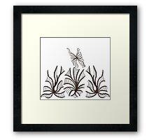 Florals & Fluttery Framed Print