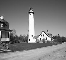 Lighthouse - Presque Isle, Michigan by Frank Romeo