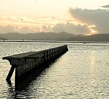 Pier at sunset -San Francisco Bay by LaquelW