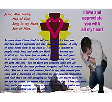 Jason: Man of God, Son of Mine Photographic Print