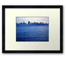 panoramic view of skyline,san francisco Framed Print