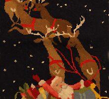 "Santa and his reindeer by Christine ""Xine"" Segalas"