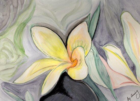 A Tropical Flower- Frangipani by Anne Gitto