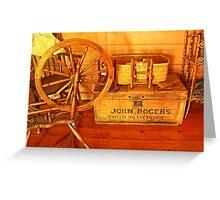Pioneer Parlour - Many A Yarn Spun Here Greeting Card