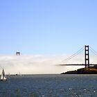 Golden Gate Bridge Under A Fog Blanket by Svetlana Day